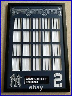 Topps Project 2020 Derek Jeter 20 Card Display/ Showcase Your Set