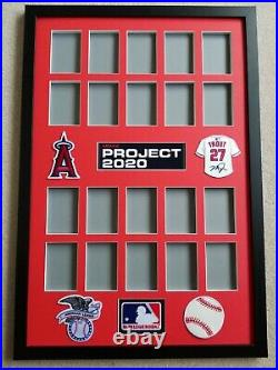 Topps Project 2020 Mike Trout 20 Card Display Frame/ Showcase Your Set