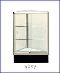 Triangle corner showcase 20 inch frame shelf retail store display wall corner