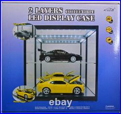 Triple 9 Display Show Case 2 Tier For X2 Cars 118 Scale Great With Lights Bnib