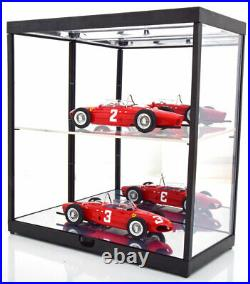 Triple 9 Led Display Show Case Double Shelves 118 Scale Great For Car Displays