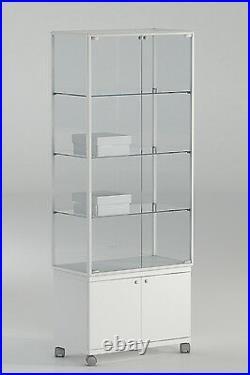 Vetrina Vetrinetta Espositore Display Showcase Vetro Alluminio serratura