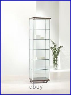 Vetrina Vetrinetta Espositore Display Showcase Vetro Alluminio serratura chiave