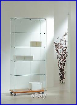 Vetrina Vetrinetta alta Espositore Display Showcase Vetro serratura chiave