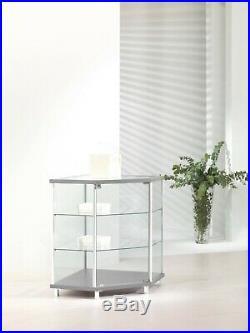 Vetrina bassa Vetrinetta Espositore Display Showcase Vetro Banco angolare