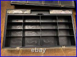Vintage 1981 Mattel Hot Wheels Display Showcase 16 Vehicle Case Black Lot of 4