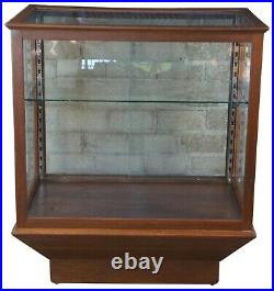 Vintage Oak General Store Country Mercantile Curio Display Case Cabinet Showcase